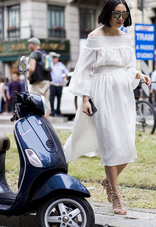 Các bà bầu sành điệu nổi bật ở tuần lễ thời trang