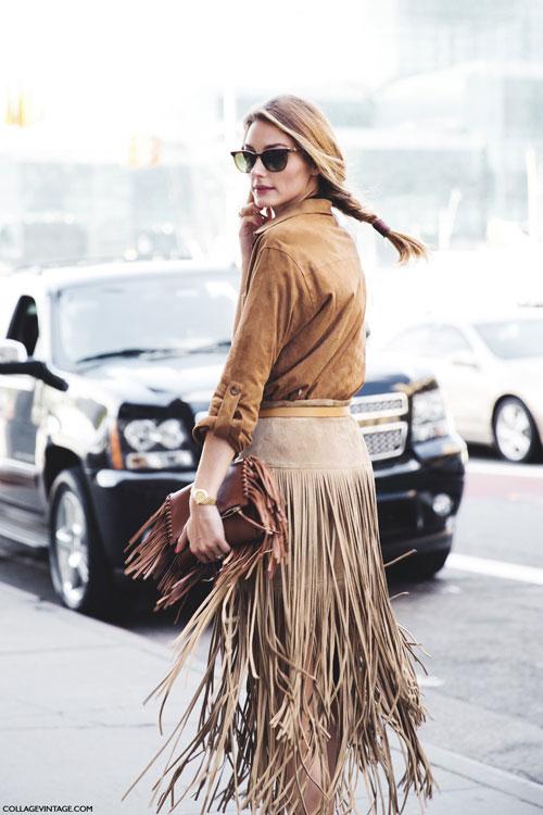 """Chân váy tua rua """"đánh thức"""" mùa thu"""
