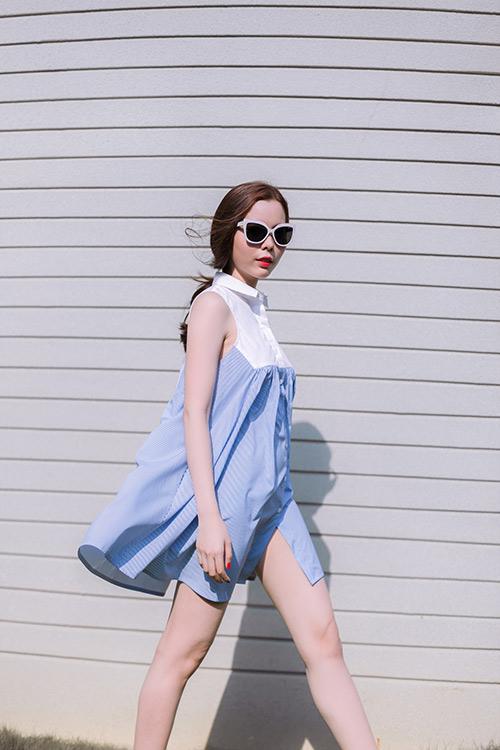 Cô gái Sài Thành diện áo đầm mát mắt giữa nắng tháng 4