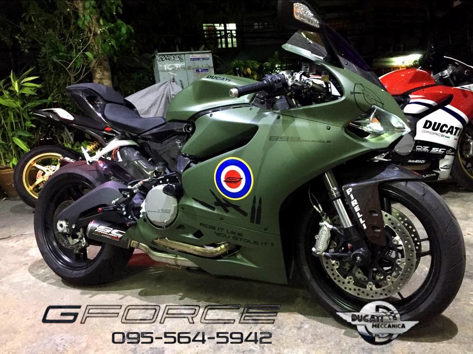 Phong trần Ducati 899 Panigale độ cứng cáp theo phong cách nhà binh
