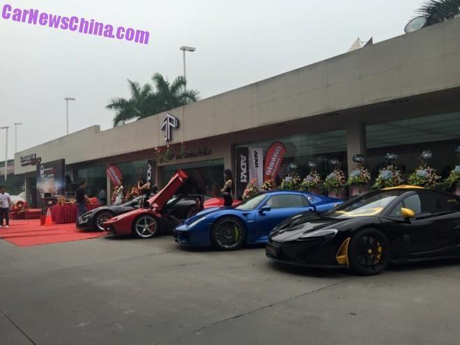 Dàn siêu xe đắt tiền ghé thăm hãng độ ở Trung Quốc