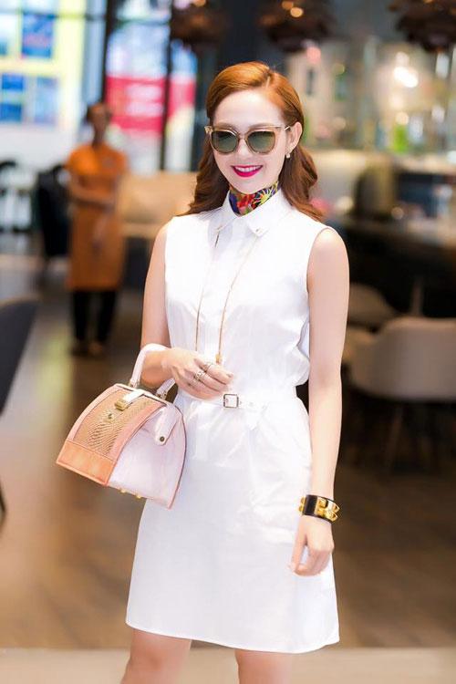 Ngắm sao Việt nâng tầm đẳng cấp cho sơ mi váy