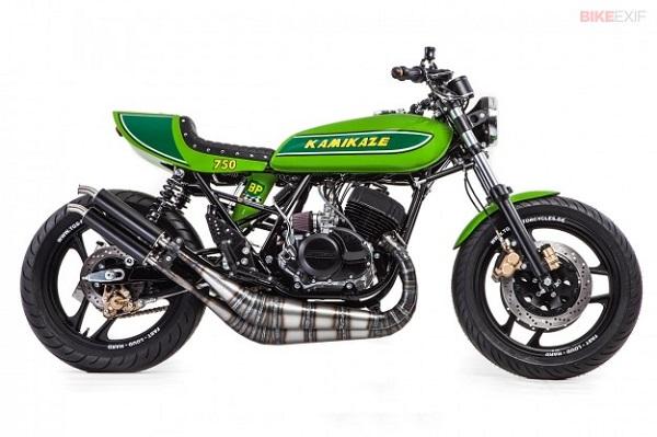 Dưới tay thợ kỳ cựu đã biến hình Kawasaki H1 theo phong cách Nhật