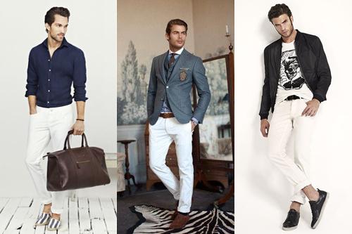 Những lưu ý cho nam giới khi phối đồ với quần trắng