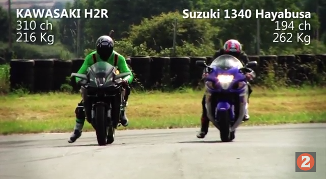 Kawasaki Ninja H2R so tài với Hayabusa kẻ 8 lạng người nửa cân