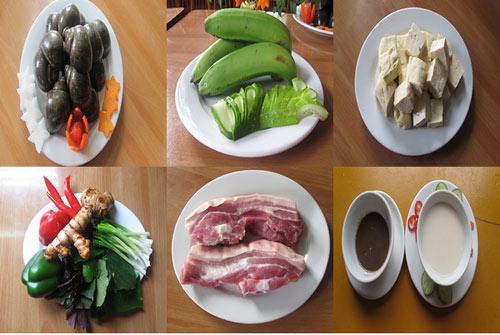 Ốc nấu chuối đậu thơm ngon cho bữa cơm gia đình