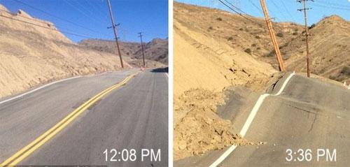Kỳ lạ con đường trưa bằng phẳng, chiều gập ghềnh ở California