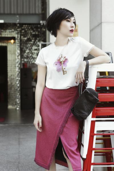Street style Kin Concept của Kathy Uyên