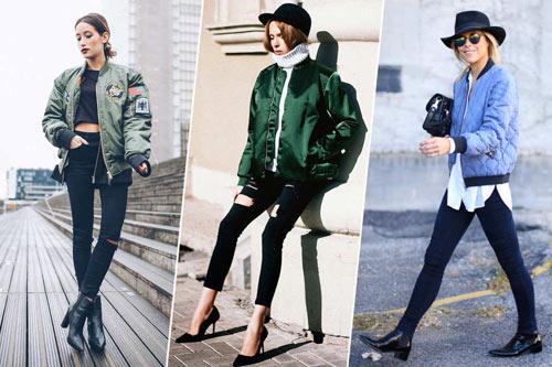 Dễ thương những phong cách với áo khoác bomber
