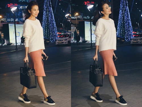 Ngắm thời trang sao Việt càng đơn giản càng đẹp!