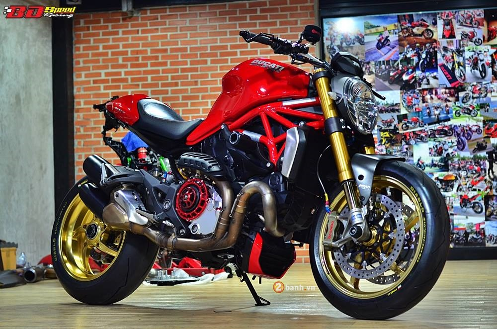 Ducati Monster 1200S với vẻ ngoài hầm hố
