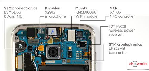 Chi tiết bộ xử lý, camera bên trong Galaxy S7
