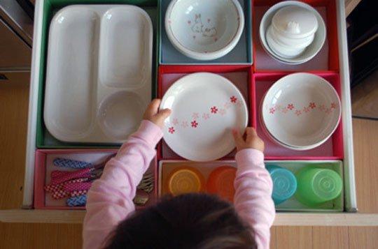 Những ý tưởng độc đáo trong bếp cho gia đình có trẻ nhỏ