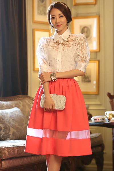 Áo sơ mi nữ đẹp Hàn Quốc công sở mát dịu