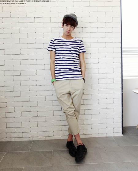 Áo thun pull nam là lựa chọn của các chàng với phong cách Hàn Quốc