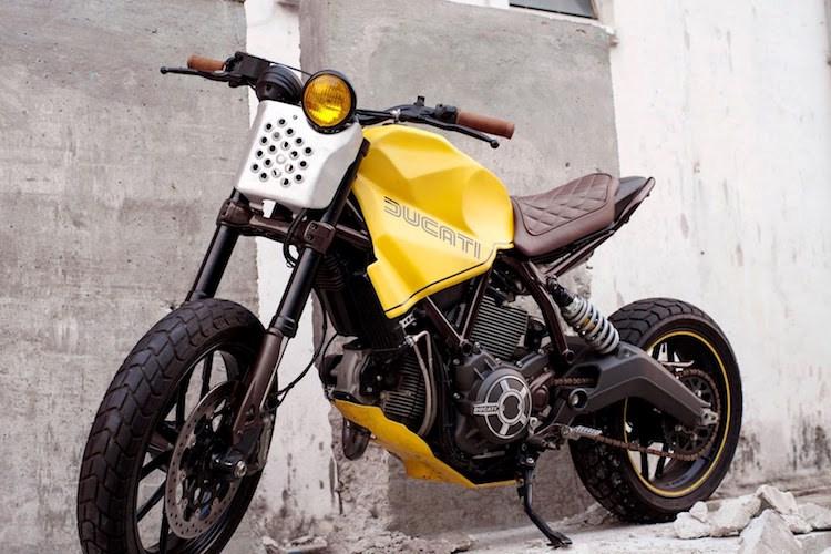 Phong cách Tracker trần trụi của Ducati Scrambler