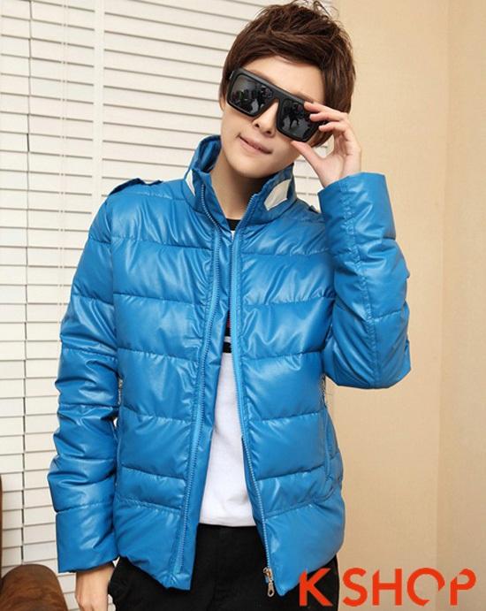 Áo khoác phao nam đẹp mùa thu đông 2017 kiểu Hàn Quốc