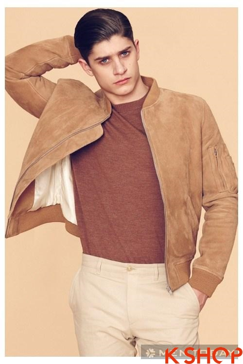 BST áo khoác da lông nam đẹp ấm áp từ thương hiệu Louis W