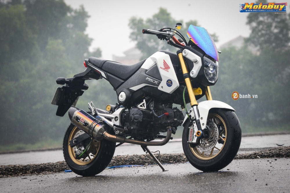 Honda MSX độ khủng khoe dáng dù trời mưa tầm tã