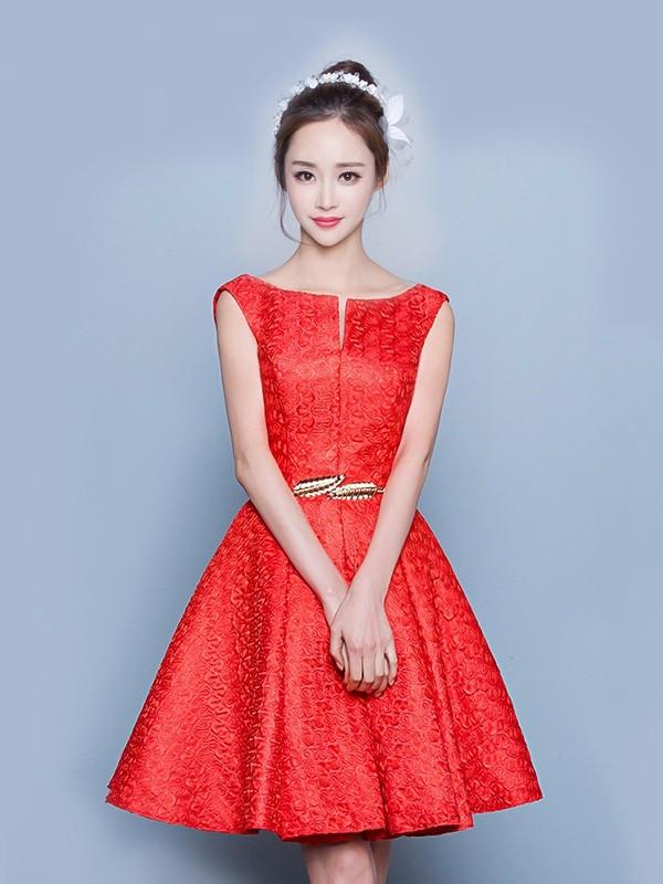 Váy đầm dạ dáng xòe đẹp kiểu cổ sen hàn quốc