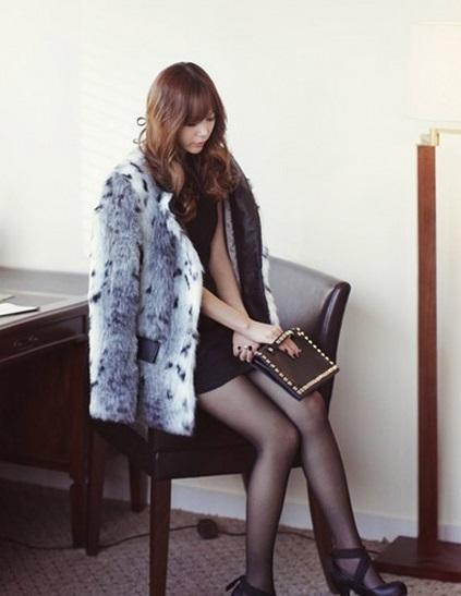 Áo khoác lông nữ dáng ngắn ấm áp cho những ngày lạnh