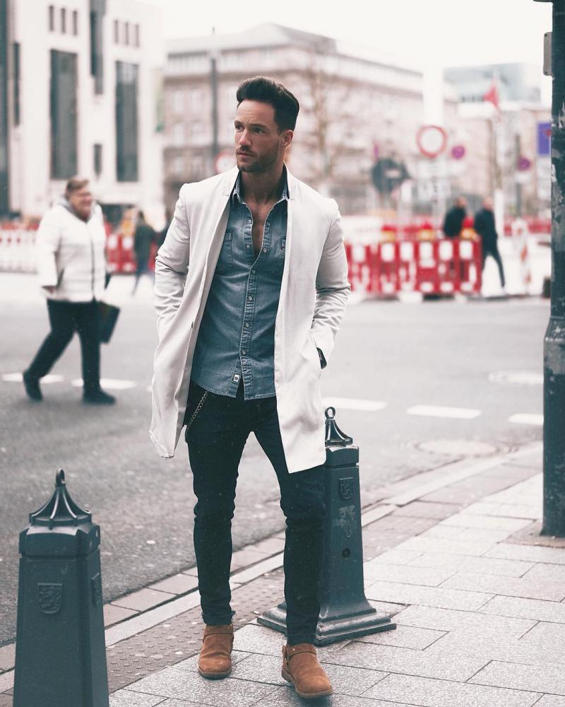 Cảm hứng phối áo sơ mi denim – item hoàn hảo cho quý ông phong cách