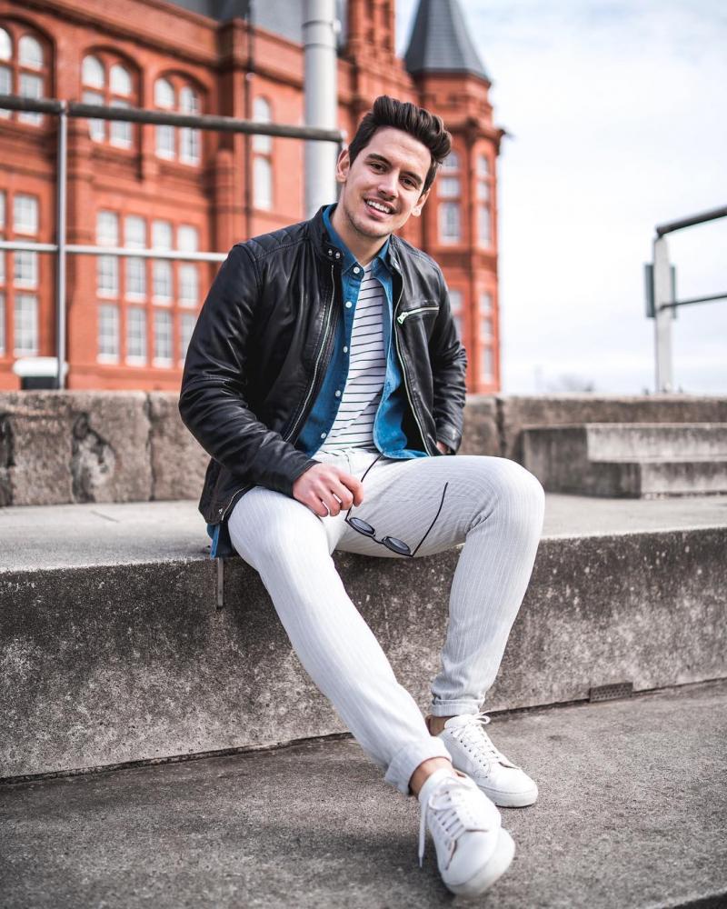 6 cảm hứng phối đồ với denim jacket giúp chàng thêm phong tính mạnh mẽ