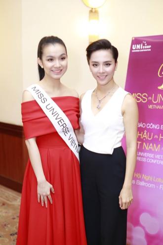 Cuộc hội ngộ của Hoa hậu Thùy Lâm và Á hậu Thiên Lý
