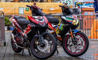 Cặp đôi Exciter 150 Phong cách Rossi và Lorenzo