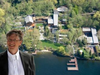 Ảnh hiếm về biệt thự triệu đô nuôi cả cá mập của Bill Gates
