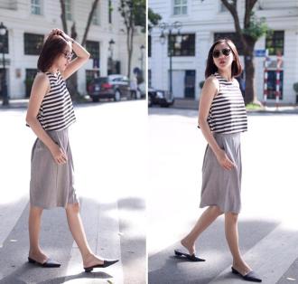 Những cách diện đồ giúp chân dài hơn của mỹ nhận Việt