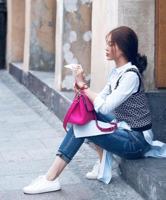 """Á hậu Diễm Trang """"lột xác"""" nhờ chồng sắp cưới tư vấn"""