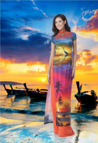 Khánh Vân duyên dáng trong BST 'Nét đẹp Á đông'