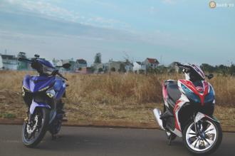 Exciter 150 và Air Blade độ chất của Biker Buôn Mê Thuột