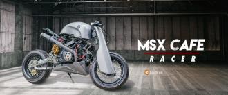 Honda MSX độ siêu ấn tượng với phiên bản Cafe Racer