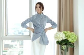 Áo sơ mi nữ cách điệu phong cách Hàn cho nàng công sở 2017