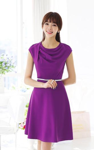 Váy đầm xòe Hàn Quốc cho nàng đi dự tiệc đầy gợi cảm