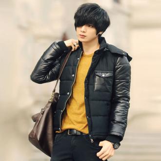 Áo khoác phao nam dáng ngắn đẹp kiểu Hàn Quốc