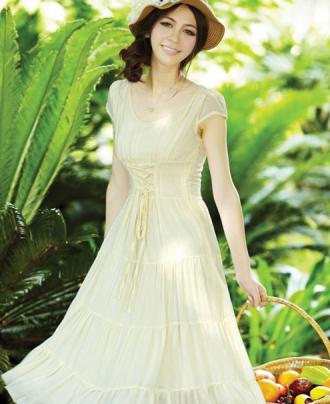 Váy đầm maxi dáng dài ngọt ngào xuống phố hè 2017