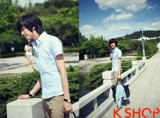 Áo sơ mi nam ngắn tay đẹp phong cách Hàn