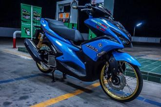 NVX 155 độ phong cách Drag chất chơi của biker Thailand