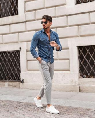 5 cách diện đồ cùng áo denim giúp chàng cá tính