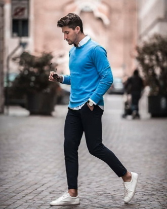 Cảm hứng phối đồ layer với áo sweater ấm áp