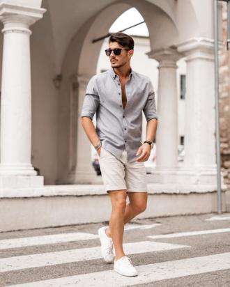 Dạo phố đầy năng động với cảm hứng phối quần short nam