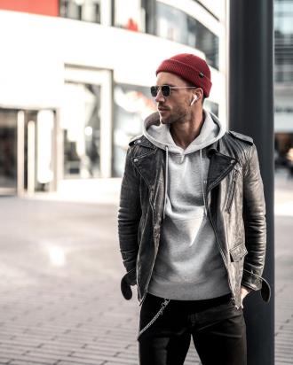 4 tips phối áo khoác biker jacket da chất cực chất mà tự tin