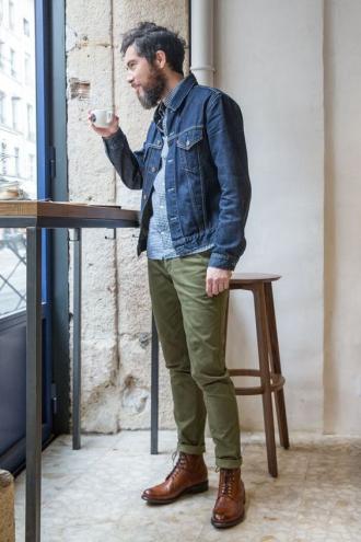 6 cảm hứng phối đồ với denim jacket giúp chàng thêm tự tin