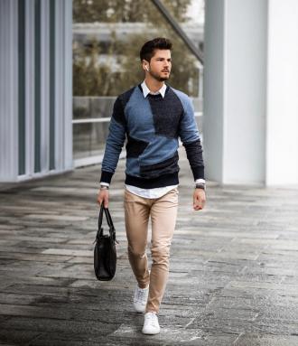 """Cảm hứng phối áo sweater và sơ mi chuẩn """"style layer"""" đầy ấm áp và độc đáo"""
