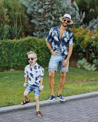 Cảm hứng phối đồ giúp cặp bố con sành điệu như fashionista tự tin