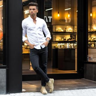 6 Cách phối đồ nam với giày chelsea boots tôn dáng