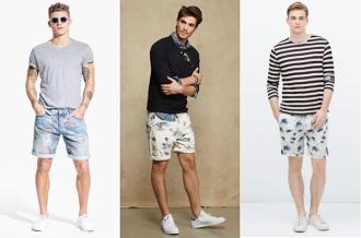 Áo sơ mi kết hợp với quần short nam kiểu dáng phù hợp tự tin